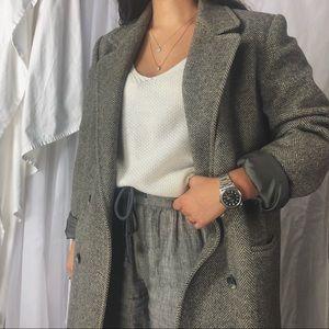 VINTAGE/ oversized wool blazer